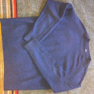 J Crew 100% Lambswool Sweater Navy Blue
